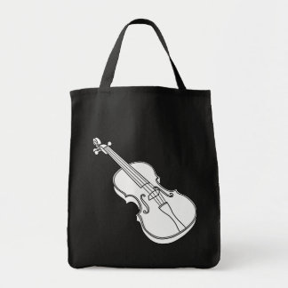 Beautiful Black and White Violin Sketch Outline