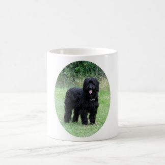 Beautiful black briard dog coffee mug, gift idea coffee mug