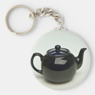 Beautiful black colored teapot key ring