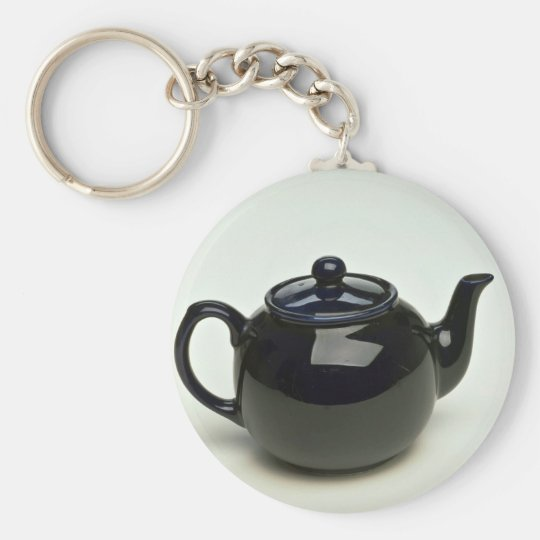 Beautiful black coloured teapot key ring