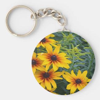 Beautiful black eyed susan flower garden key chains