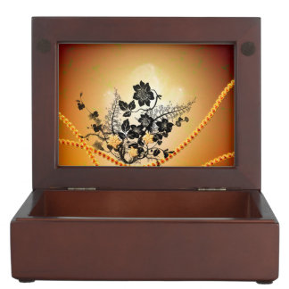 Beautiful black flowers memory box