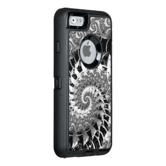 Beautiful Black Fractal OtterBox Defender iPhone Case
