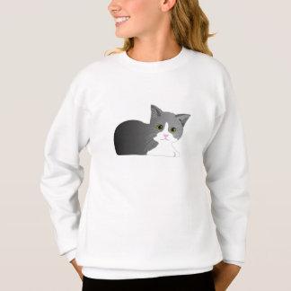 Beautiful black, grey and white kitten. sweatshirt