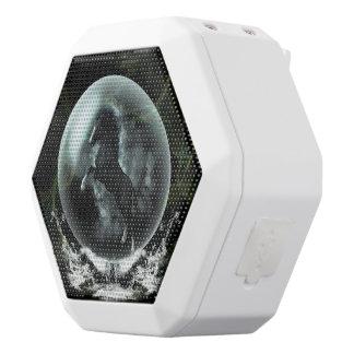Beautiful black horse in a bubble white boombot rex bluetooth speaker
