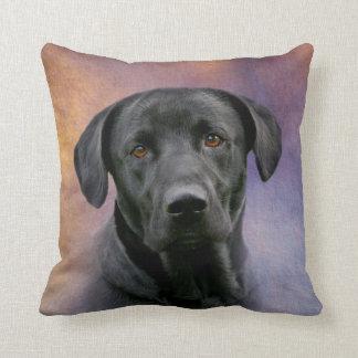 Beautiful Black Labrador Retriever Cushion