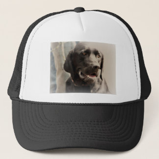 Beautiful Black Labrador Retriever Portrait Trucker Hat