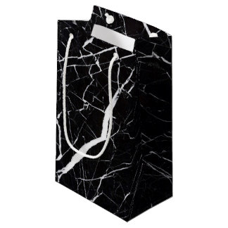 Beautiful black marble small gift bag