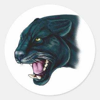 Beautiful Black Panther Round Sticker