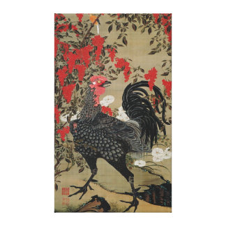 Beautiful Black Rooster Canvas Print
