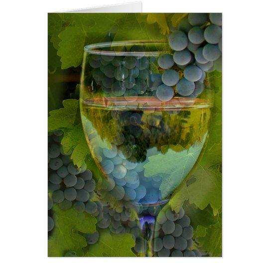 Beautiful Blank Wine Art Note Cards