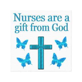 BEAUTIFUL BLESSED NURSE DESIGN GALLERY WRAPPED CANVAS