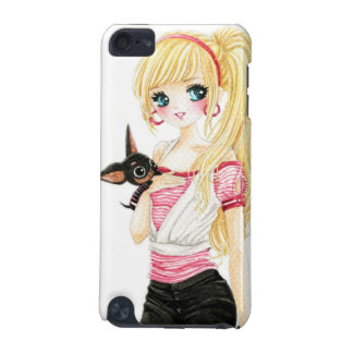 Beautiful blond girl with cute chihuahua iPod touch (5th generation) covers