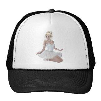 Beautiful Blond Woman Ballerina Cap