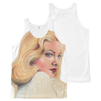 Beautiful blonde pin-up girl All-Over print tank top