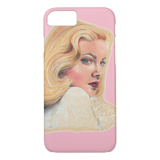 Beautiful blonde pin-up girl iPhone 7 case