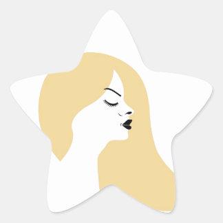 Beautiful blonde sticker
