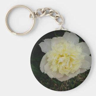 Beautiful Blooming Spring Flower Basic Round Button Key Ring