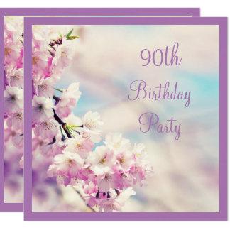Beautiful Blossom 90th Birthday Card