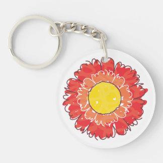 Beautiful Blossom Keychain - Red