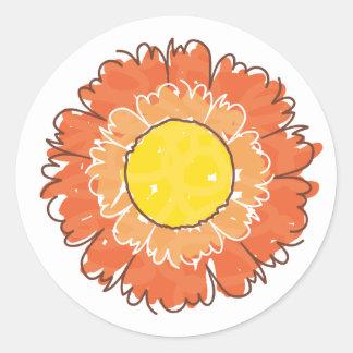 Beautiful Blossom Sticker - Orange