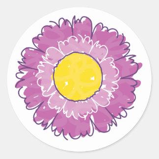 Beautiful Blossom Sticker - Purple