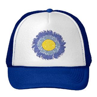 Beautiful Blossom Trucker Hat - Blue
