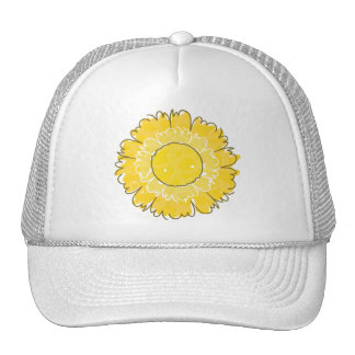 Beautiful Blossom Trucker Hat - Yellow