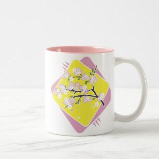 Beautiful Blossoms Two-Tone Coffee Mug