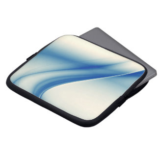 Beautiful blue abstract laptop computer sleeves
