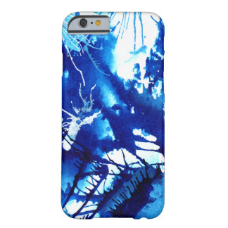 Beautiful Blue Acrylic inks Abstract Art Design Barely There iPhone 6 Case