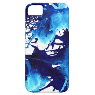 Beautiful Blue Acrylic inks Abstract Art Design Case For The iPhone 5
