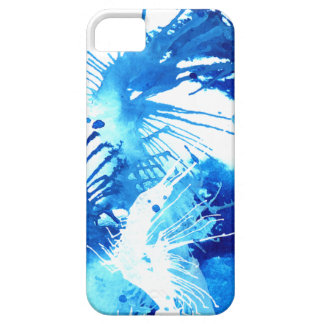 Beautiful Blue Acrylic inks Abstract Art Design iPhone 5 Covers