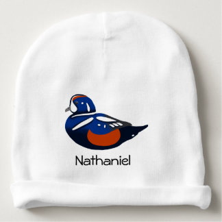 Beautiful Blue and Orange Harlequin Ducks Baby Beanie