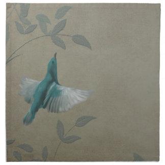 Beautiful Blue Bird Cloth Napkins