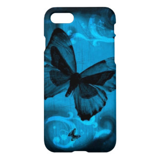 beautiful blue buterfly swirl lines vector art iPhone 8/7 case