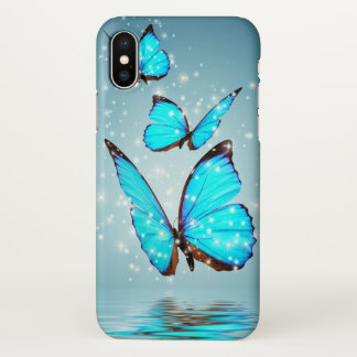 beautiful blue butterflies iPhone x case