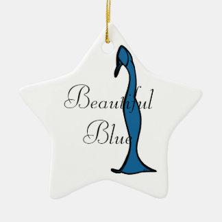 Beautiful Blue Ceramic Star Decoration