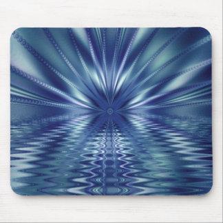 Beautiful Blue Fine Fractal Art Mouse Mat