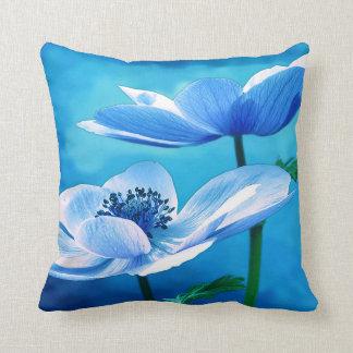 Beautiful Blue Floral Pillow