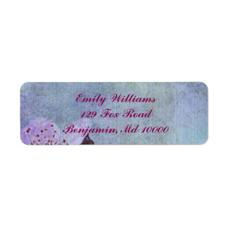 Beautiful Blue Floral Return Address Label