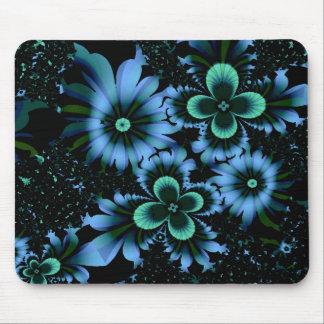 Beautiful Blue Flowers Fine Fractal Art Mouse Pad