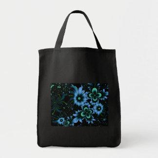 Beautiful Blue Flowers Fine Fractal Art Tote Bag