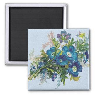 Beautiful Blue Flowers Magnet