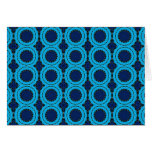 Beautiful Blue Geometric Abstract Design Greeting Card