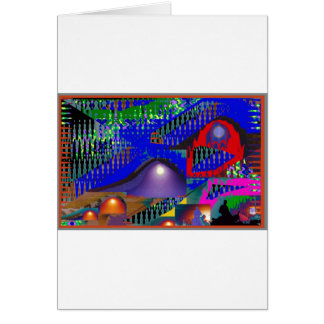 Beautiful Blue Moonshine Abstract Greeting Card