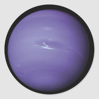 Beautiful blue Neptune, as seen from space, NASA Classic Round Sticker