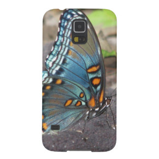 Beautiful Blue Orange and Black Butterfly. Galaxy S5 Cover