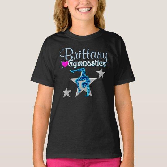 BEAUTIFUL BLUE PERSONALIZED GYMNASTICS APPAREL T-Shirt