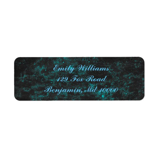 Beautiful Blue Return Address Label